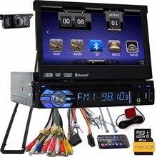 Камера Бесплатная пересылка карта Автомобильный GPS dvd-плеер 1DIN универсальный GPS Видео Мультимедиа Bluetooth 7-дюймовый Авторадио 1Din автомобиля GPS NAV