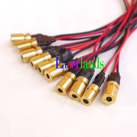 100pcs mini 650nm 660nm 3.2mW 5mw 3VDC Red Laser Dot Diode Module LD
