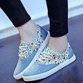 Tendencia primavera Verano Zapatos de Las Mujeres de Impresión Plana Zapatos de Lona Mujer Low top Ocio Zapatos Casuales para Mujeres Mujer Zapatillas