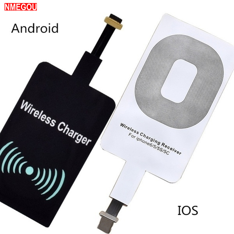 Qi Wireless Charger Receiver Charging Adapter for Samsung Note 3 4 5 S4 S5 IPhone 7 6 6S Plus SE 5S Android Micro USB Induction(China)