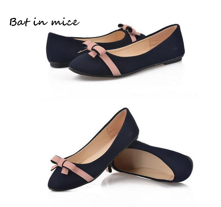 women Casual Shoes Women Fashion New Oxfords Bow Slip-On Flat Ballet dancing Shoes Mujer Zapatos lady Shoes Plus Size 35-40 W215 bohemia plus size 34 41 new fashion wedges sandals slip on elastic band casual platform shoes woman summer lady shoes shallow