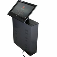 17 24 inch lcd monitor hidden lift / conference system lcd monitor lift / screen lift for meeting system remote RS control