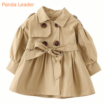 Baby Jacket Casaco Infantil Girl Baby Coat 2021 Spring Baby Jas Trench Double Breast Windbreaker for Girl Kids Jacket For 1-4T 1