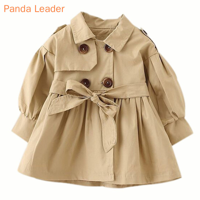 Baby Jacket Casaco Infantil Girl Baby Coat 2019 Spring Baby Jas Trench Double Breast Windbreaker for Girl Kids Jacket For 1-4T