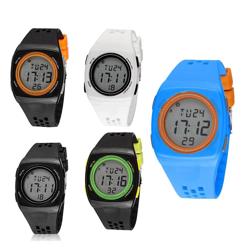 Aspiring 1 Pcs Women Men Digital Electronic Watch Waterproof Pu Strap Fashion For Outdoor Lxh Shrink-Proof Watches