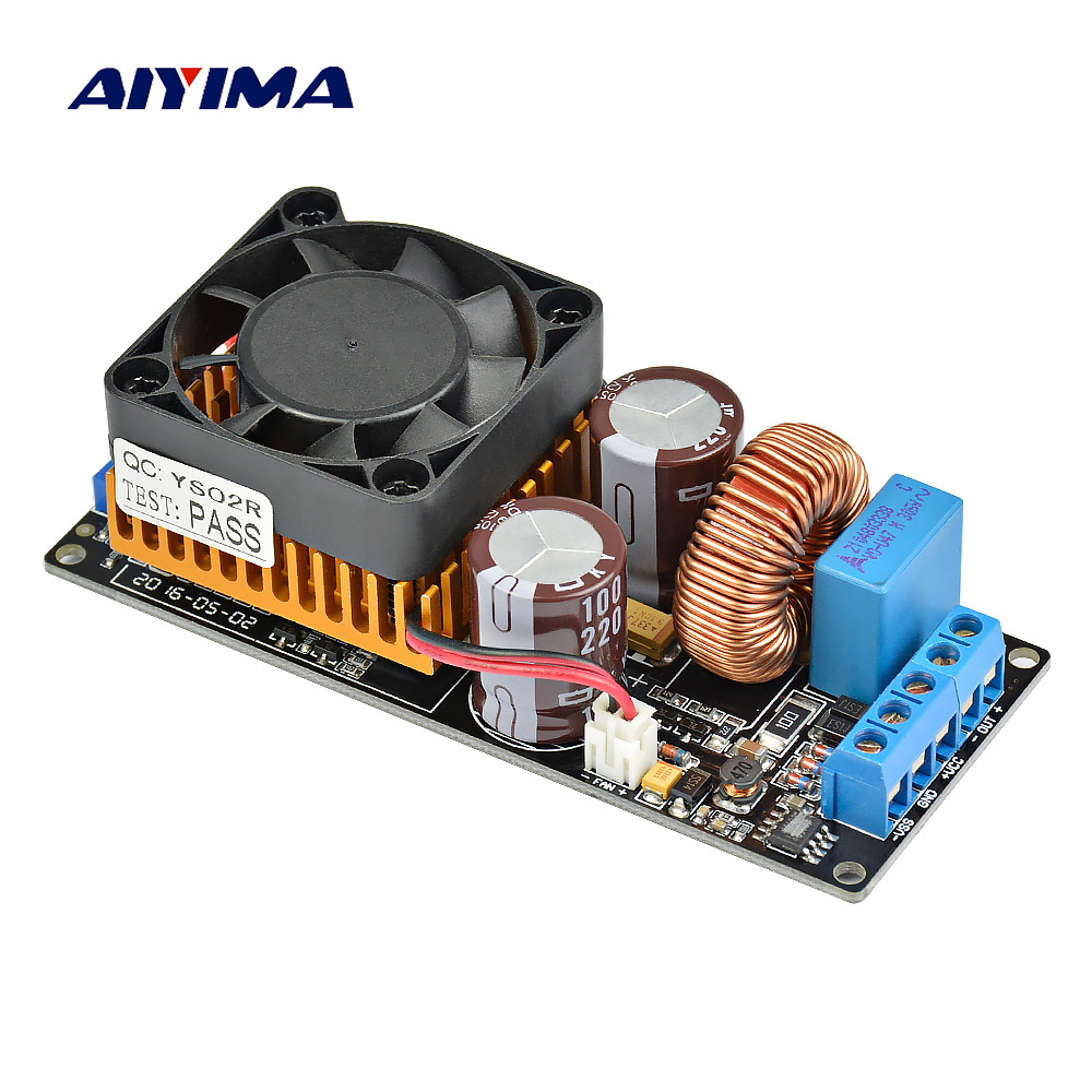 Aiyima IRS2092 HIFI Digital Amplifier Board 500W Mono High Power Subwoofer Audio Amplifier Board Super LM3886 assembeld mono lm3886 hifi amplifier board base on jeff rowland lm3886 power amplifier