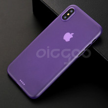 0.3mm Ultra Thin Full Cover Case For iPhone X Back Cases Slim Matte