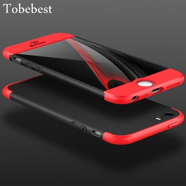 565c05c5aec Tobebest 360 grado completo rojo Carcasas para iPhone 5/5S/se caso lujo 3