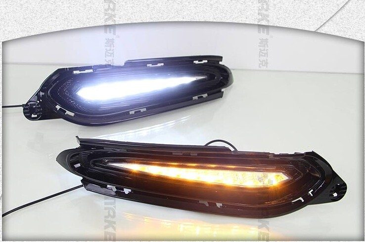 цена на eOsuns LED DRL daytime running light top quality for Honda vezel HRV HR-V 2014-15, with 3 versions available