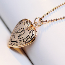 Valentine Lover Gift Animal Dog Paw Print Photo Frames Can Open Locket Necklaces