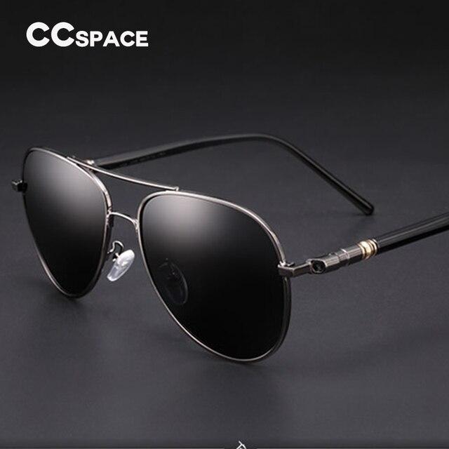 45100 Cool Men Pilot Sunglasses Women Metal Polarized Glasses Fashion Eyewear 100% UV Protection
