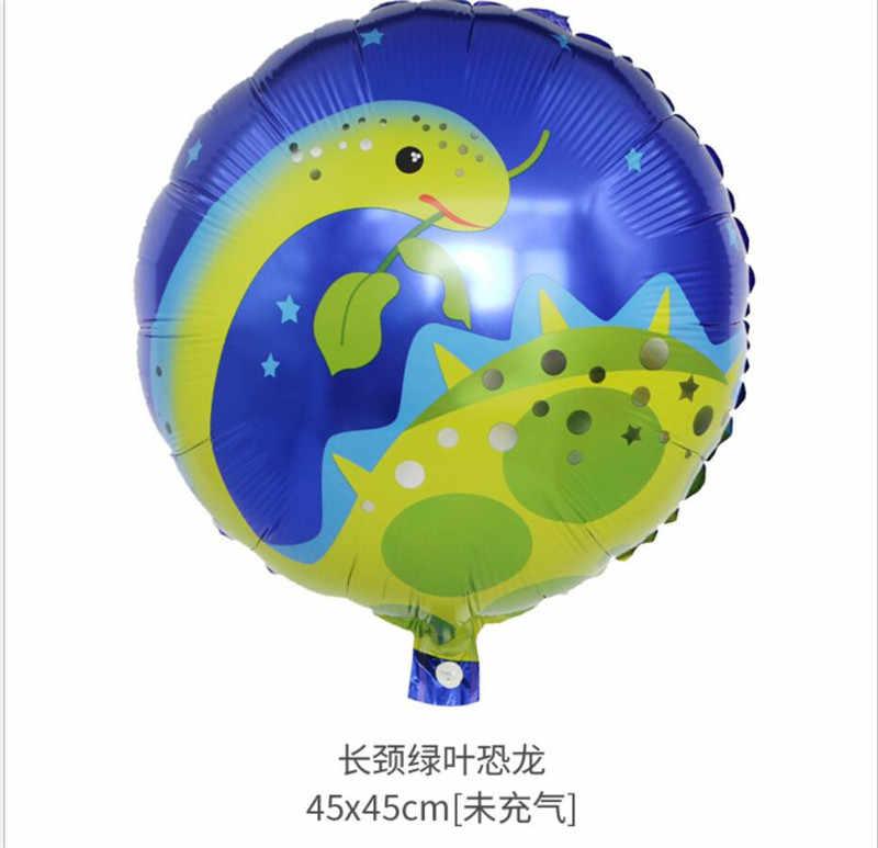 ยักษ์ไดโนเสาร์ฟอยล์บอลลูนเด็กสัตว์บอลลูนปาร์ตี้วันเกิดไดโนเสาร์ jurassic world ตกแต่งบอลลูนการ์ตูนหมวก
