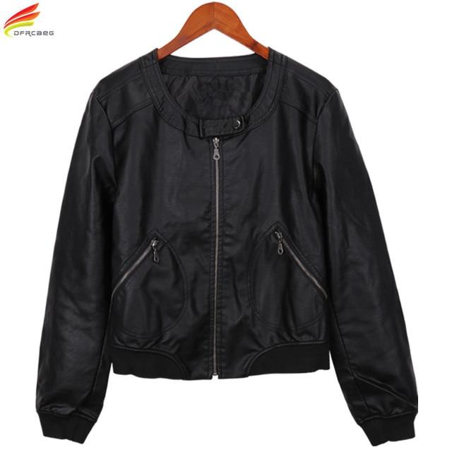 Plus Size Women Leather Jacket And Coat Autumn Winter 2018 PU Ladies Leather Jackets Oversized Fashion Woman Coats