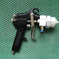 SAT1182 two component spray gun pneumatic paint pressure spray on chrome wood tools hvlp