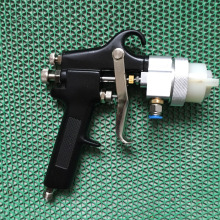 цена на SAT1182 two component spray gun pneumatic paint pressure spray on chrome wood tools hvlp