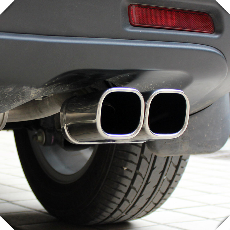 2014-2018 For Suzuki SX4 S-Cross stainless steel tail end pipe exhaust muffler tip accessories car-styling for suzuki sx4 s cross 2013 2014 automobile chrome rear door trunk lid cover trim car styling stickers accessories