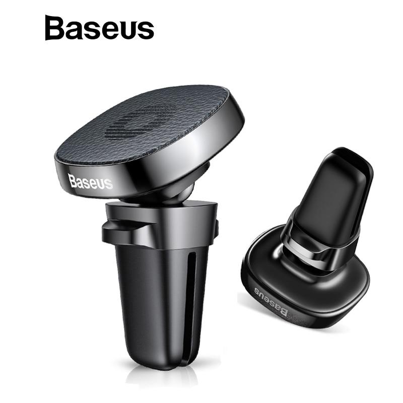 Baseus Metal teléfono titular del coche para el iPhone X 8 Sumsung S9 Xiaomi titular del teléfono móvil soporte de ventilación magnético teléfono