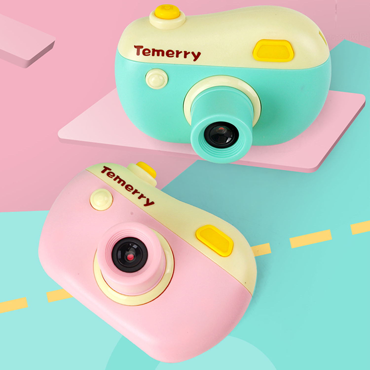 Kids Candy Color Mini Digital Camera USB Rechargeable Electronic Photography Video Recorder Camcorder Built In Game Camera Toy