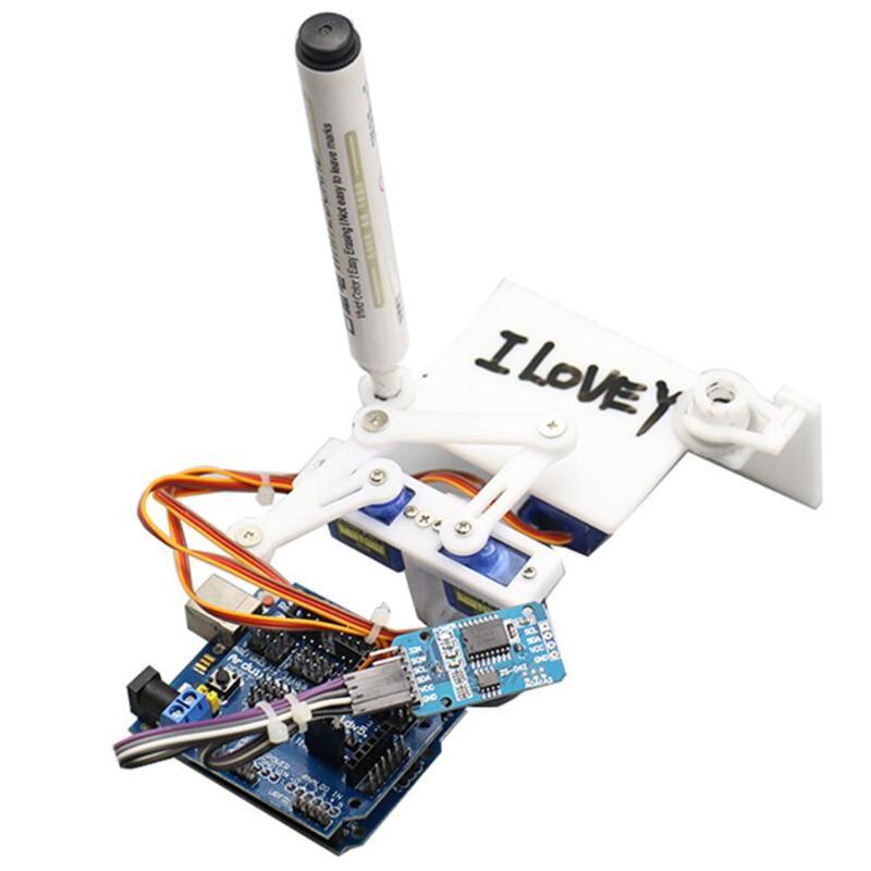 ALLOYSEED Plotclock Manipulator Automation Drawing Robot Robotic Clock with Controller DIY Robot Bundled CD Development Tool