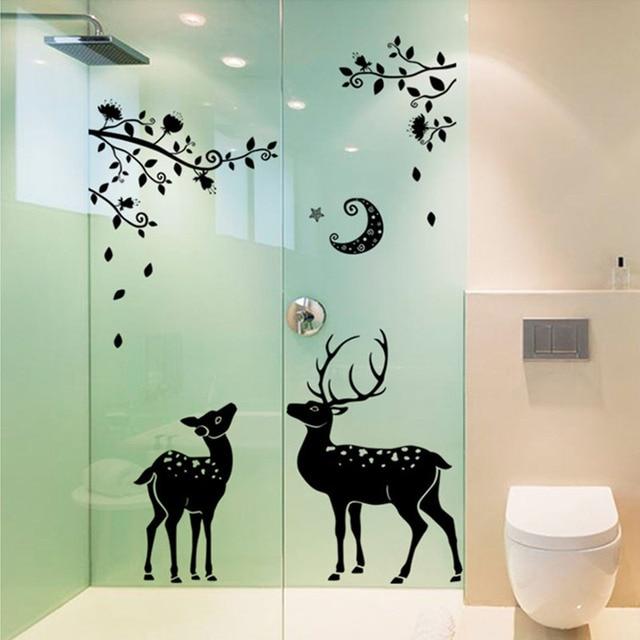 3d waterproof sticker name moonless deer diy vinyl wall stickers for