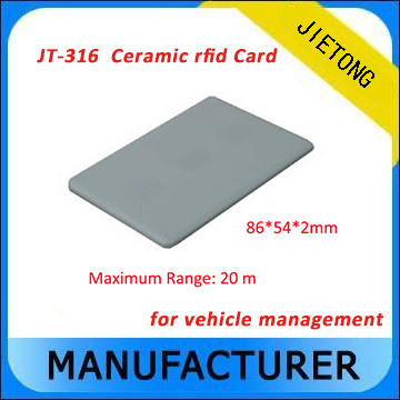Long Range  Ceramic Material UHF RFID Windsheild Card for Parking Management long range iso18000 6c alien h3 uhf rfid card for logistics and warehouse management
