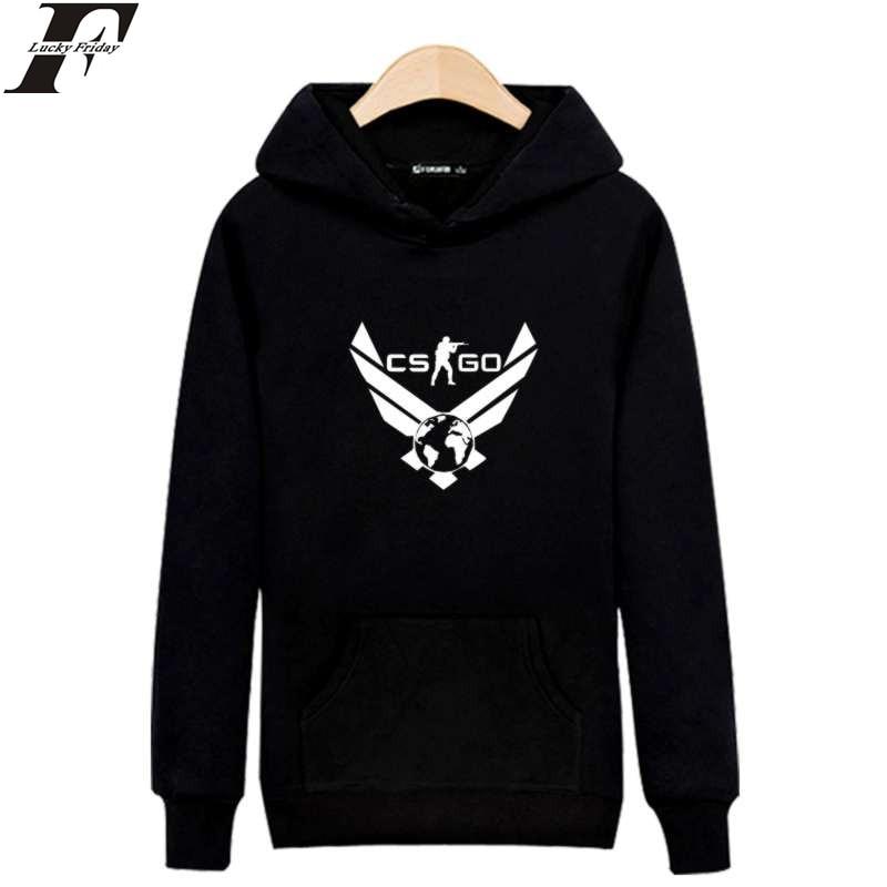 LUCKYFRIDAYF CS GO Hot Sale Cotton Trendy Hooded Hoodies with Harajuku Sweatshirt Men Luxury Brand in Mens Hoodies Sweatshirts