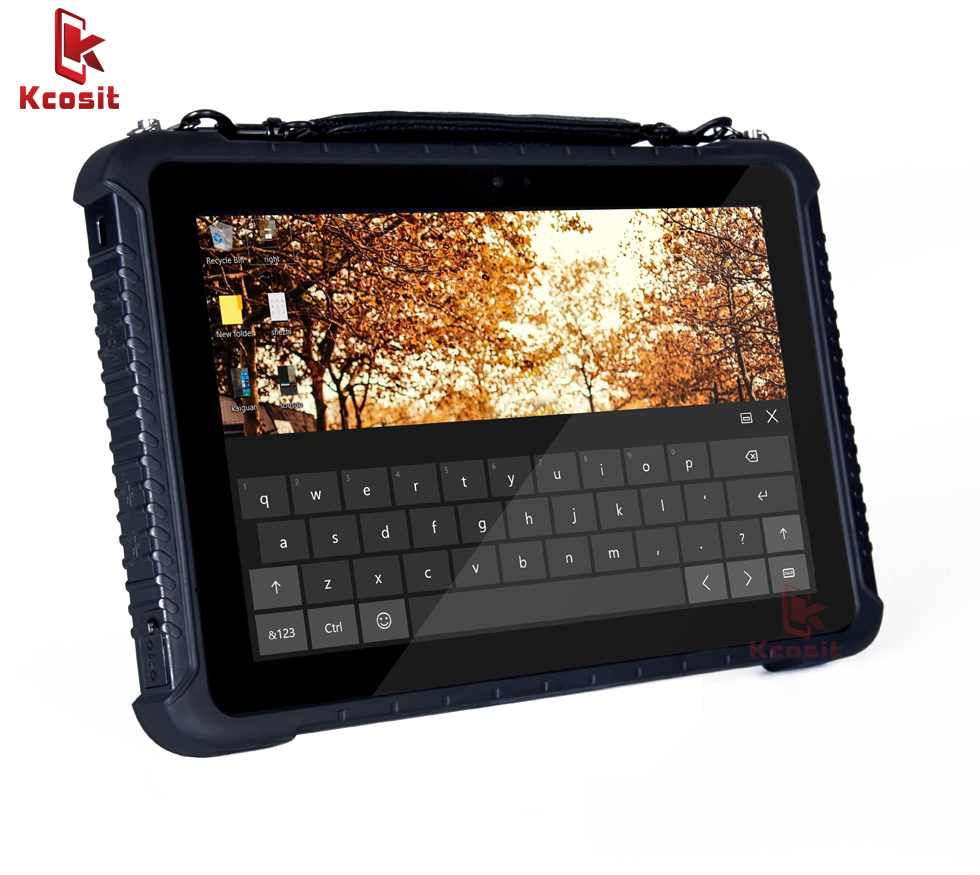 Rugged Industrial Tablet PC Windows 10 Home Handheld Mobile Computer Waterproof Shockproof 10.1