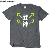 2017 Summer OW Game Tee Shirt Homme OW Fans GENJI Men T Shirt Short Sleeve Cotton