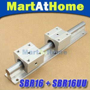 2pcs SBR16-350mm Linear Bearing Rails + 4pcs SBR16UU For CNC Table #SM190 @EF