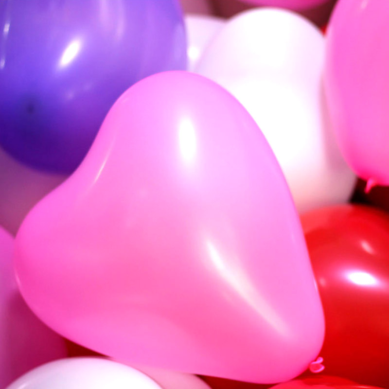100pcs 2.2 g thickening wedding bridal love marriage room decorate decorate, heart-shaped balloon birthday balloon