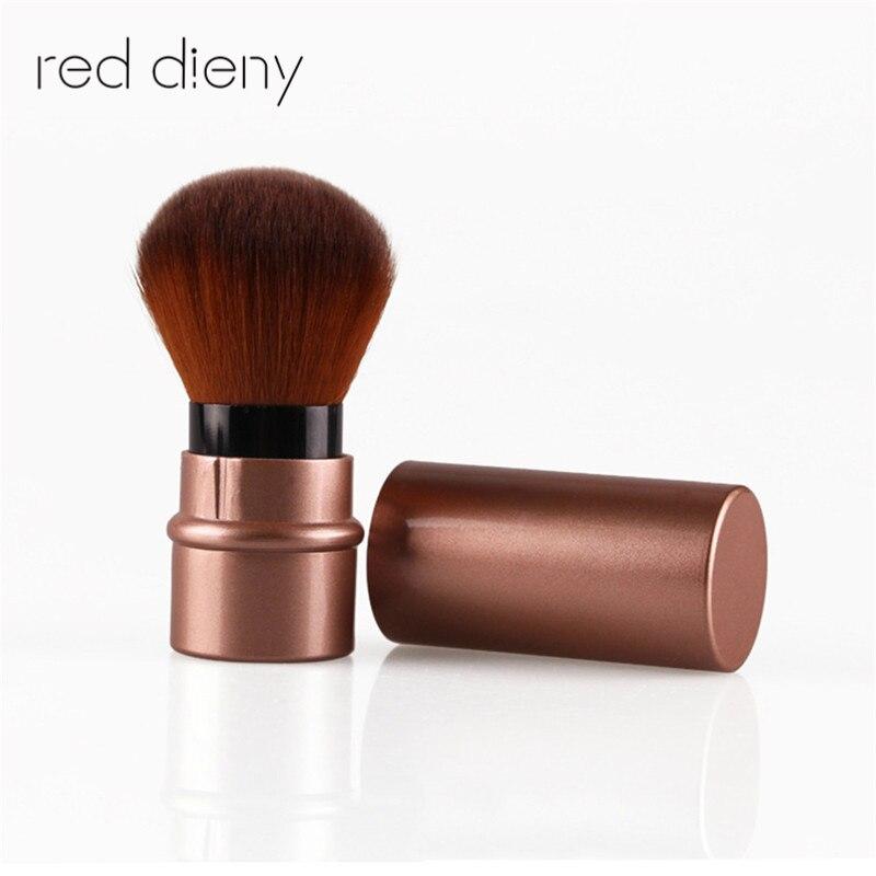 1PCS Pro Retractable Makeup Blush Brush 2016 Hot Fashion Powder Cosmetic Adjustable Face Power Brush Kabuki Brush retractable cosmetic makeup powder multifunction brush claret red