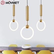 נורדי LED תליון אורות lampadario בציר תליית אורות מטבח אוכל חדר שינה luminaria pendente אור גופי