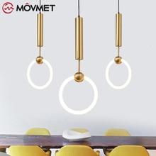İskandinav LED kolye ışıkları lampadario bağbozumu asılı ışıklar mutfak yemek odası yatak odası luminaria pendente aydınlatma armatürleri