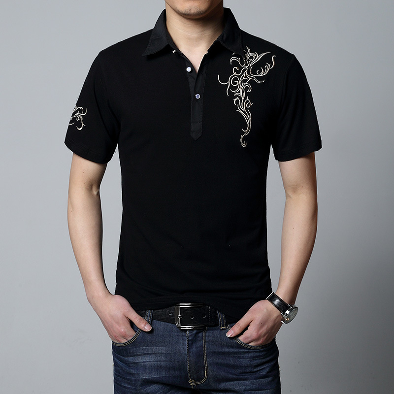 2019 New Summer   Polo   Shirts Short Sleeve Men Solid Color Plus Size M-3XL 4XL 5XL 6XL