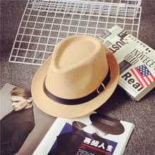 2019 new Childrens sun hat Spring and summer child Cowboy Hats Vacation Leisure straw Boy girl Wide Brim Jazz