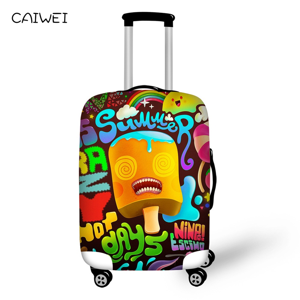 Летние Чемодан охватывает дорожного чемодана для детей 18-28 дюймов мороженое чемодан Чемодан Защитная крышка Эластичный дорожные аксессуар...