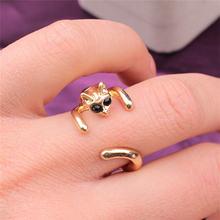 Rongqing Новое поступление Регулируемые кольца в виде кошки