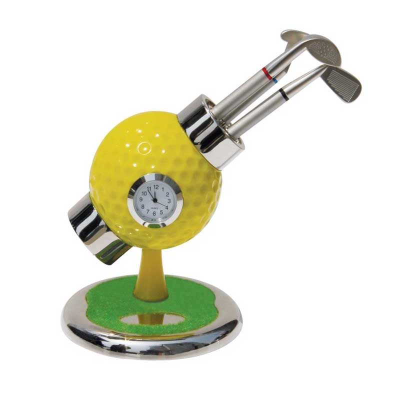 ACMECN Golf Pen Holder for 3pcs Pen Multi-color Cool Design Golf Ball Pen with Clock for Desk Ornaments Gifts Hobbyist GiftsACMECN Golf Pen Holder for 3pcs Pen Multi-color Cool Design Golf Ball Pen with Clock for Desk Ornaments Gifts Hobbyist Gifts