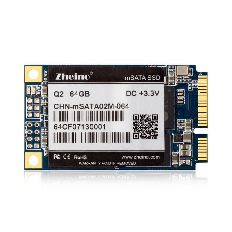 Zheino Q2 SATA Mini PCIE mSATA 64GB SSD Internal Solid State Drive MLC 128M Cache SATA3 HARD DRIVE For Table PC Laptop Notebook cy u3 179 bk 50mm mini pci e msata 6gbps solid state ssd to usb 3 0 hard disk enclosure black