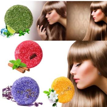 цена Handmade Hair Shampoo Magic Soap Bar Pure Natural Dry Shampoo Soap Oil-control Anti-Dandruff Off Hair Care Shampoo онлайн в 2017 году