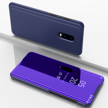 For Oneplus 6T Case 1+6T Luxury Smart Mirror View Leather Flip Shell Stand Cover Phone Coque Oneplus6t