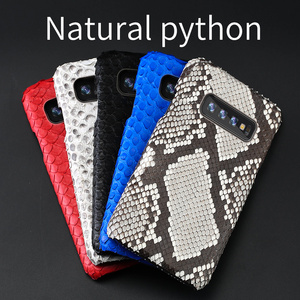 Image 5 - Genuine Python Leather phone case For Samsung galaxy s10 Plus S9 s7 s8 Plus Snakeskins cover for a50 A70 A71 A51 2020 a8 a7 2018