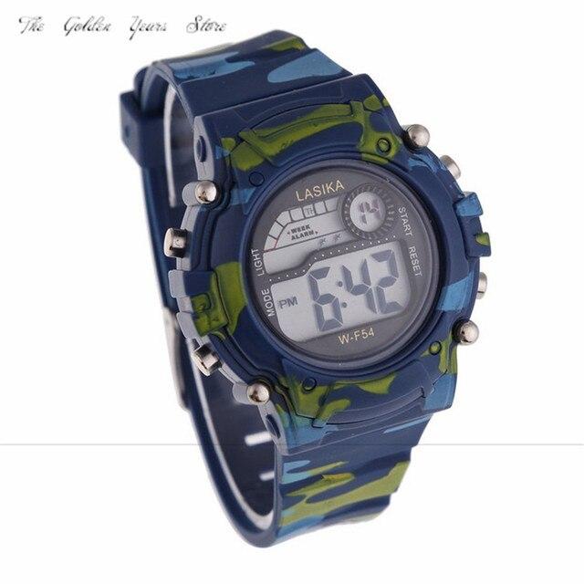 2018 Nuova vendita calda moda Bambini Ragazzi Camouflage Nuoto Sport Orologio Da Polso Digitale vita Impermeabile regalo orologio 1220d40