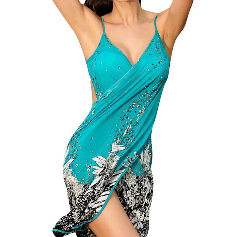 11c8a97eac Sexy sling beach wear dress women 's sarong summer bikini cover-ups wrap  Pareo skirts towel Open-Back swimwear