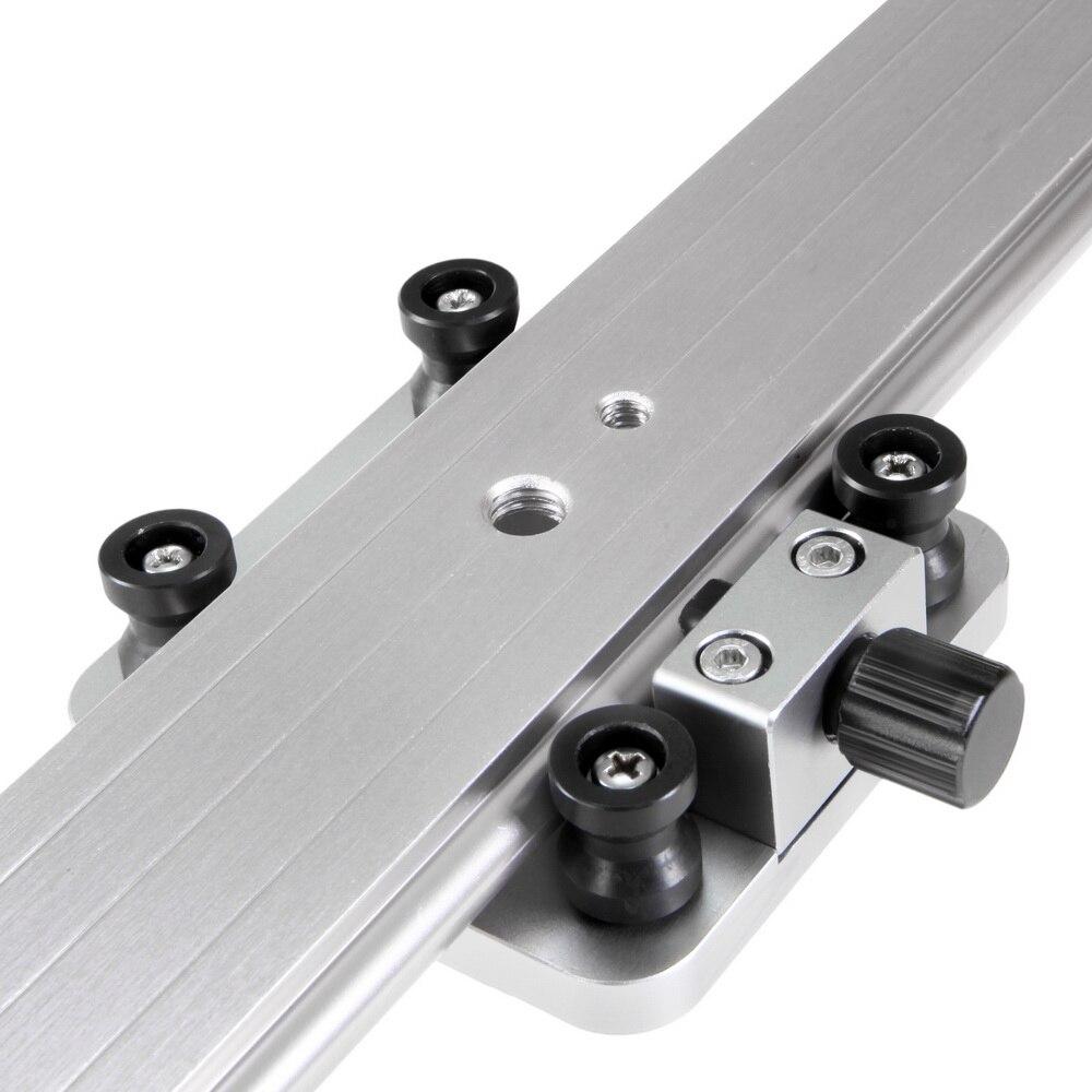 """כרטיסי טלויזיה ועריכה Selens 100cm / 39.37 """""""" מצלמה Slider סגסוגת אלומיניום Damping Slider מסלול מייצב וידאו מסילה Slider עבור DSLR או מצלמת וידאו (5)"""
