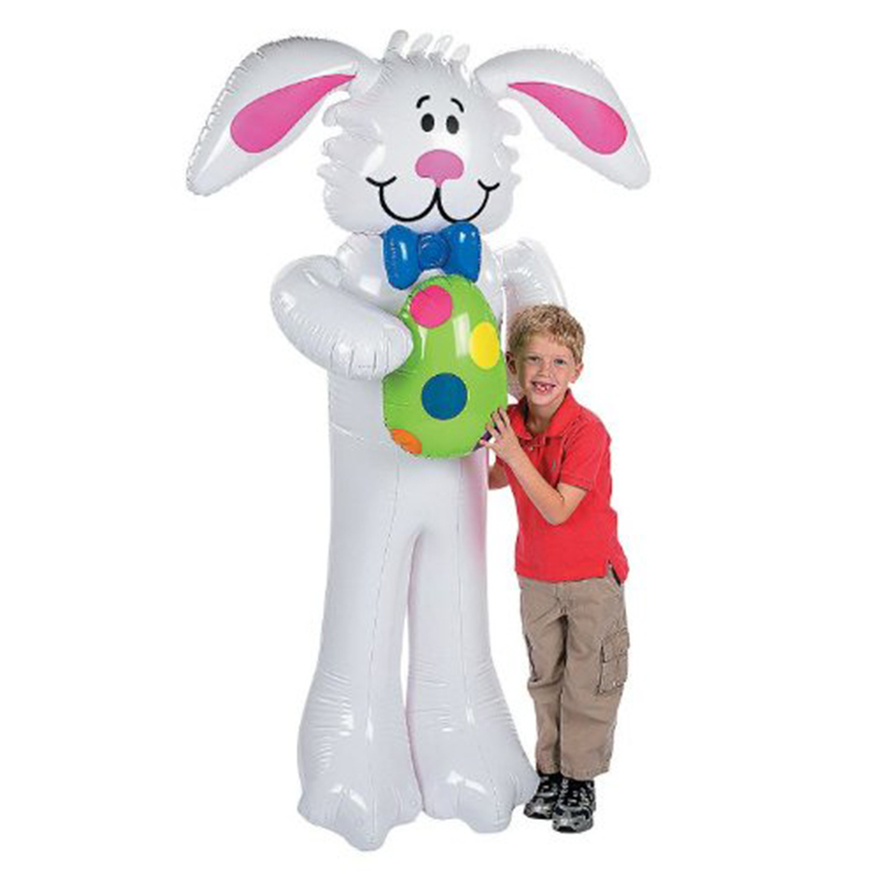 160 CM Cartoon Inflatable Big White Rabbit Outdoor Toys For Kids Easter Party Decoration Stage Prop Bolw Up Ballons Toys