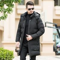 Winter Parkas Men X Long Jackets Hooded PLus Size 8XL Large Size Mens Coat Cold Proof Male Warm Thick Clothes Black Color