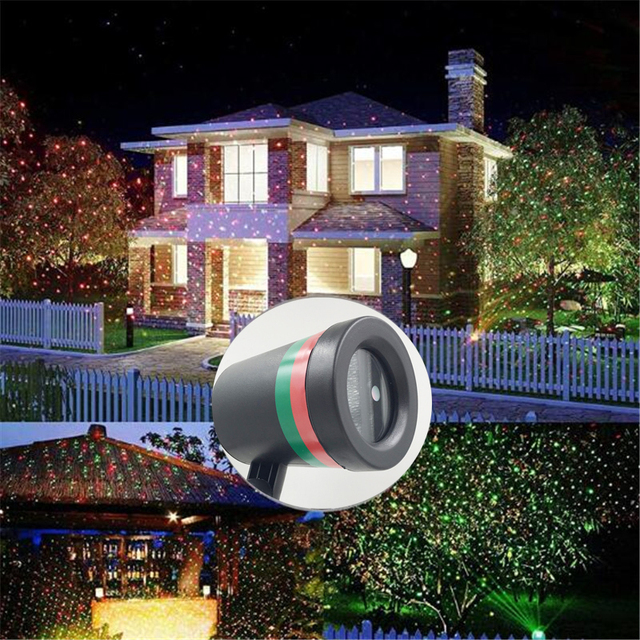 屋外移動フルスカイスタークリスマスレーザープロジェクターステージランプグリーン & レッド LED ステージライト屋外風景芝生ガーデンライト