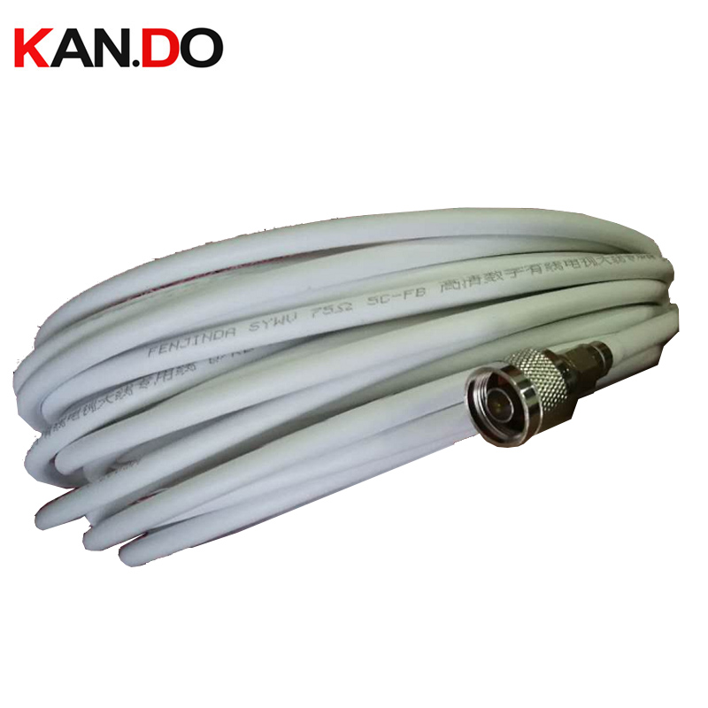 N Connector 5-40m 75-5 Coaxial Cable For Booster Gsm Telcom Part 75Ohm CATV Transmission Cable N Connector Incl. Repeater Cable