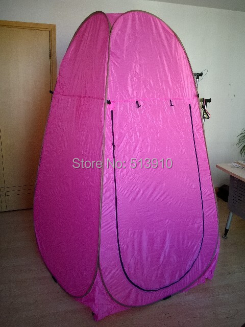 Pink Automatic steel Portable Shower/dreesing/toilet/fishing outdoor pop up tent/ & Pink Automatic steel Portable Shower/dreesing/toilet/fishing ...